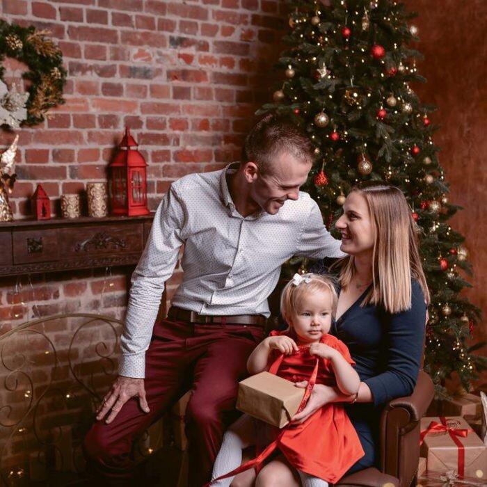 sesje noworodkowe, zdjęcia dziecki, fotografia rodzinna świąteczna