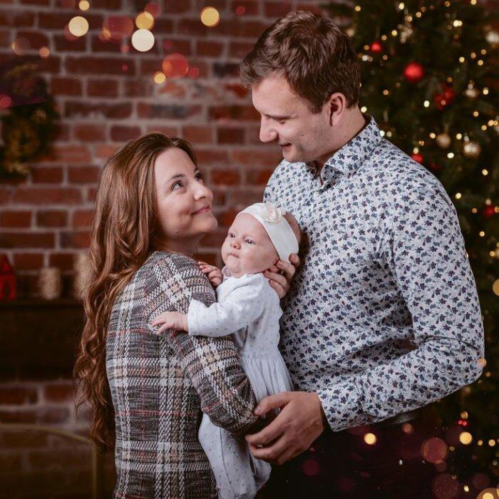 sesje noworodkowe, zdjęcia dziecki, zdjęcia świąteczne